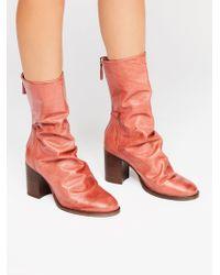 Free People - Elle Block Heel Boot - Lyst