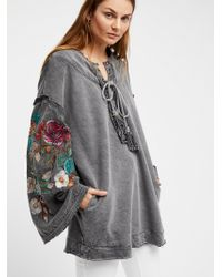 Free People - Look Away Lace-up Tunic - Lyst