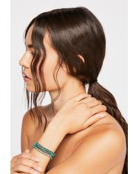 Free People - Turquoise Silk Bracelet By Feathered Soul - Lyst