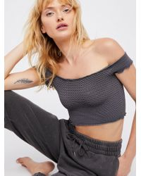 Free People - Smocked Crop Top - Lyst