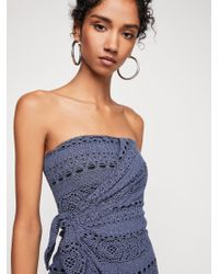Free People - Oceanside Mini Dress - Lyst