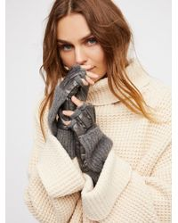 Free People | Silver Lining Pop-top Glove | Lyst