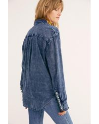 Free People - This Side Of Paradise Buttondown - Lyst