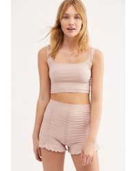 Free People - Ruched Seamless Shorts By Intimately - Lyst