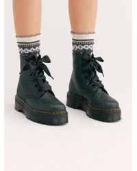 Free People - Dr. Martens Molly Glitter 6 Eye Boot - Lyst
