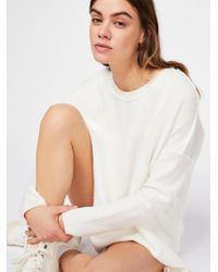 Free People - Washed Ashore Solid Pullover - Lyst