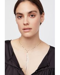 Free People - Glistening Delicate Feather Necklace By Serefina - Lyst