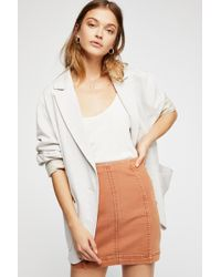 17525268d6 Free People - Modern Femme Denim Mini By We The Free - Lyst