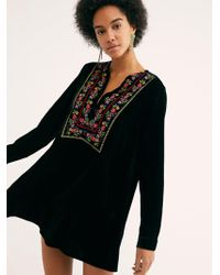 Free People - Always Forever Velvet Mini Dress - Lyst