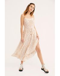 86b0cad2356 Free People Peaches Slip Dress in White - Lyst