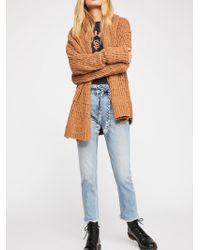 Free People - Hi & Belted Slim Straight-leg Jeans - Lyst
