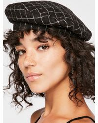 Free People - Check You Out Structured Beret - Lyst