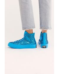 Free People - Glitter Hi Top Chuck By Converse - Lyst