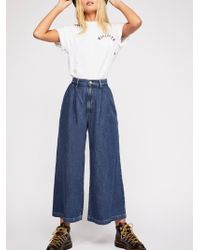 Free People - Levi's Wide-leg Pleated Jeans - Lyst