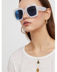 Free People - Real Deal Oversized Sunglasses - Lyst