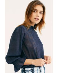 db59f4a3dba19 Lyst - Free People You And Me Embroidered Top in Brown
