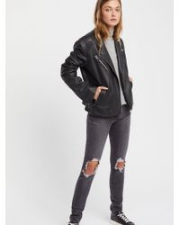 Free People - Levi's 721 Rugged Busted Knee Skinny - Lyst