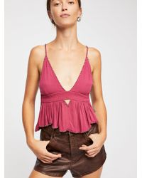 Free People - Silver Line Cami - Lyst