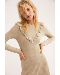Free People - Glitter Jersey Midi Dress By By Timo - Lyst