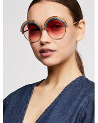 Free People - Over The Rainbow Sunglasses - Lyst