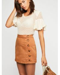 Free People - Little Daisies Mini Skirt - Lyst