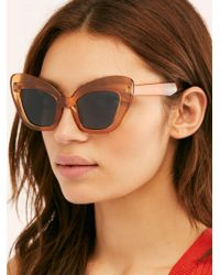 Free People - Extreme Cat Eye Sunglasses By I Sea - Lyst