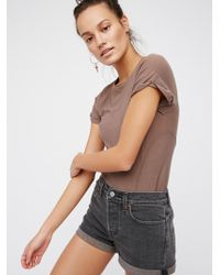 Free People - Levi's High Rise Wedgie Cutoff Shorts - Lyst