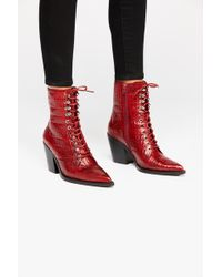 Free People - Desperado Lace-up Boot By Jeffrey Campbell - Lyst