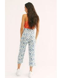 Free People - Paisley Crop Trousers By Winston White - Lyst
