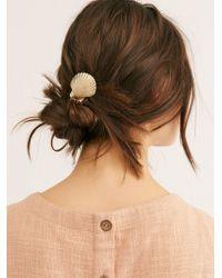 Free People - Caspian Shell Hair Pin - Lyst