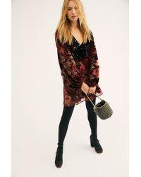 Free People - Last Letter Burnout Velvet Mini Dress - Lyst