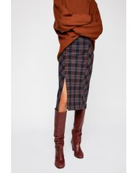 Free People - See You Glow Plaid Skirt - Lyst