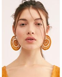 Free People - Serefina Sunshine Hoop Earrings - Lyst