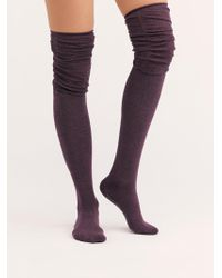 Free People - Charlie Ruched Over-the-knee Socks - Lyst