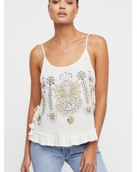Free People - Bumble Bri Embroidered Tank Top - Lyst