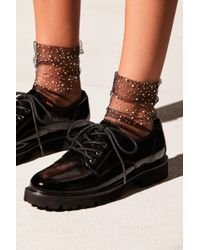 Free People - Dazzle Anklet By Peach Socks - Lyst