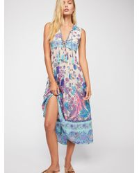 Free People - Siren Song Boho Midi Dress - Lyst