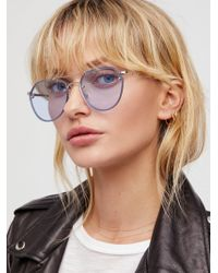 Free People - Living In Colour Aviator Sunglasses - Lyst