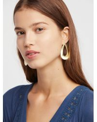 Free People | Tawi Wrap Front Hoops | Lyst