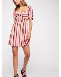 Free People - Bijoux Fit And Flare Mini Dress - Lyst