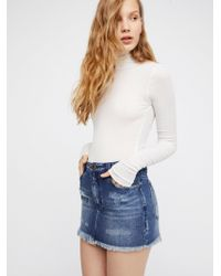 Free People - Cute To Boot Mini Skirt - Lyst