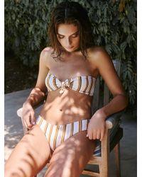 399a98e5591b4 Free People - Adele Striped Bikini Bottom - Lyst