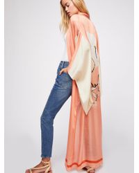 Free People - Rising Sun Maxi Kimono - Lyst