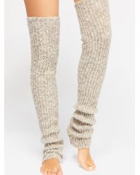 Free People - Ribbed Over The Knee Legwarmer - Lyst