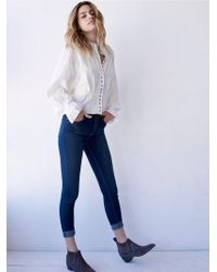 Free People - High Rise Roller Skinny - Lyst