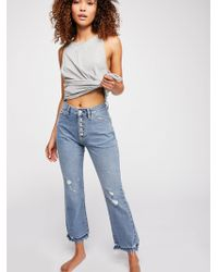 Free People - The Dylan High Rise Bootcut Jeans - Lyst