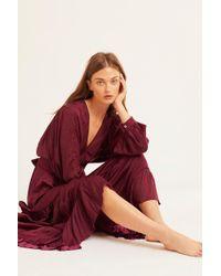 Free People - I Need To Know Shiny Maxi Dress - Lyst