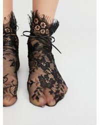 Free People - Margot Lace Crew Sock - Lyst