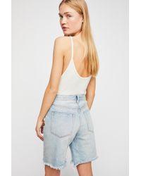 Free People - Heartbreaker Long Jean Shorts By We The Free - Lyst