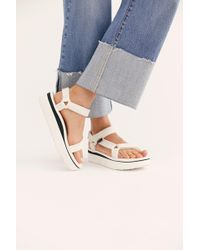 aff43c0806e Free People Flatform Universal Crafted Teva in White - Lyst